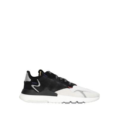 ADIDAS ORIGINALS スニーカー&テニスシューズ(ローカット) ブラック 10.5 紡績繊維 / 革 スニーカー&テニスシューズ(ローカ
