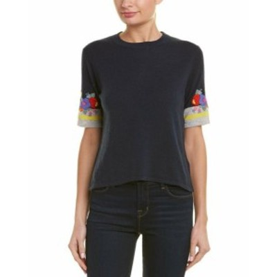 Autumn Cashmere オータムカシミア ファッション トップス Autumn Cashmere Embroidered Boxy Top