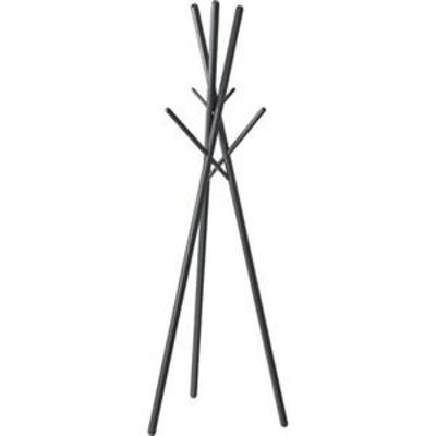 ds-2173428 北欧風 ハンガーラック/コートハンガー 【ブラック】 幅57.5cm 木製 組立品 〔寝室 ベッドルーム リビング 玄関〕 (ds2173428