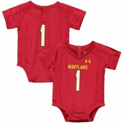 Under Armour アンダー アーマー スポーツ用品  Under Armour 1 Maryland Terrapins Newborn & Infant Red Bodysuit Replica Performance