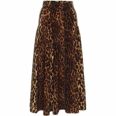 ノーマ カマリ Norma Kamali レディース ひざ丈スカート スカート Grace Leopard-Print Midi Skirt Pantera