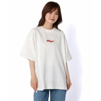 Daily russet / デイリーラシット 【Kelloggs】フロント刺繍オーバーTシャツ
