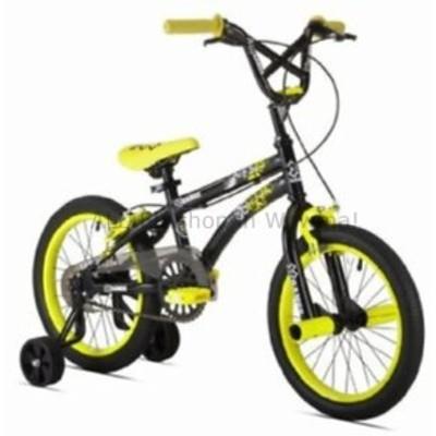 BMX 男の子のためのBMXバイクカスタムフリースタイル16インチブラックイエローXゲームトレーニングホイール  BMX Bike
