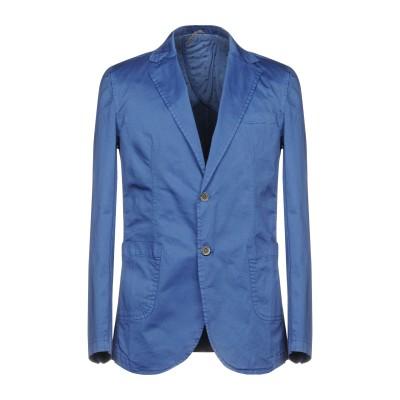 タケシ クロサワ TAKESHY KUROSAWA テーラードジャケット ブルー 48 97% コットン 3% ポリウレタン テーラードジャケット
