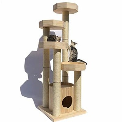 キャットハウス キャットタワー猫ハウス活動センター玩具クライマー猫スク (新古未使用品)
