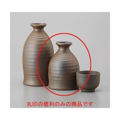 酒器 徳利 / 焼締小徳利 寸法:6.9 x 10.1cm 170cc 土物