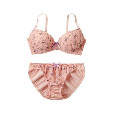 アンティーク風フラワーブラジャー・ショーツセット(F70/M) (ブラジャー&ショーツセット)Bras & Panties