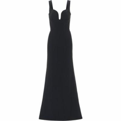 アレキサンダー マックイーン Alexander McQueen レディース パーティードレス ワンピース・ドレス Crepe gown Black
