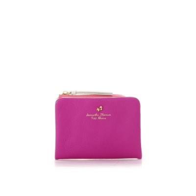 サマンサタバサプチチョイス ヴィヴィットソフトレザーシリーズ 折財布 レッドパープル