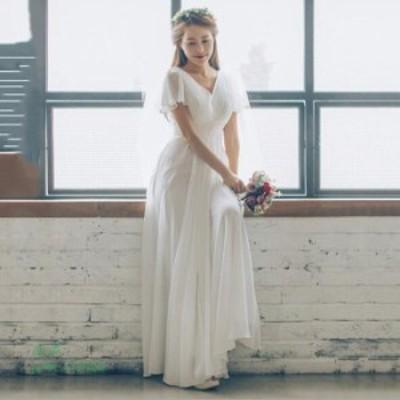 ウェティグドレス 大きいサイズ 挙式 花嫁 ドレス ワンピース 安い 花嫁 結婚式 パーティードレス Aラインドレス 前撮り 二次会 ロングド