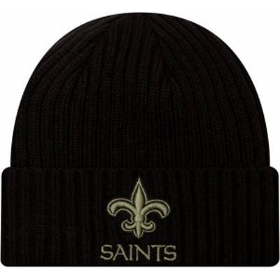 ニューエラ メンズ 帽子 アクセサリー New Era Men's Salute to Service New Orleans Saints Black Knit