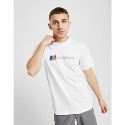 バーグハウス Berghaus メンズ Tシャツ トップス large logo t-shirt white