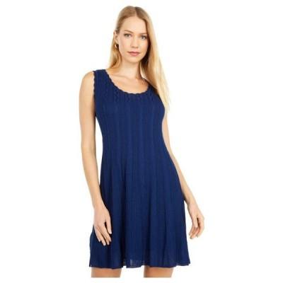エム ミッソーニ レディース ワンピース トップス Sleeveless Scoop Neck Fit-and-Flare Short Dress
