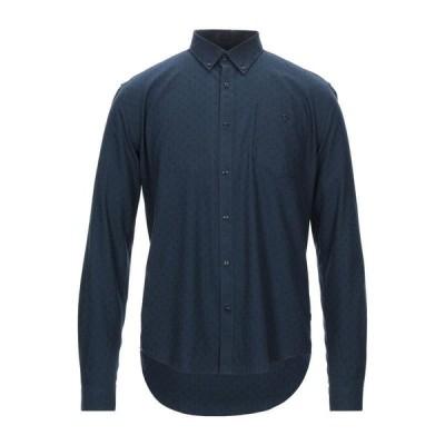 BARBOUR 柄入りシャツ  メンズファッション  トップス  シャツ、カジュアルシャツ  長袖 ダークブルー