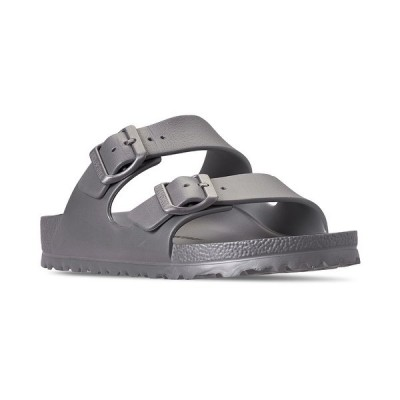 ビルケンシュトック スニーカー シューズ レディース Women's Arizona Essentials EVA Casual Sandals from Finish Line METALLIC SILVER