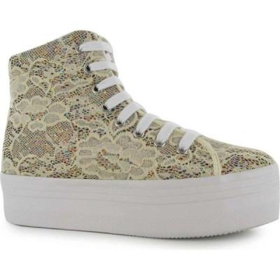 ジェフリー キャンベル Jeffrey Campbell レディース シューズ・靴 Play Homg Lace Platform Shoes Cream Glitter