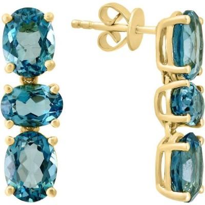 ラリ LALI Jewels ユニセックス イヤリング・ピアス ドロップピアス London Blue Topaz Oval Drop Earrings (8 ct. t.w.) in 14k Gold Blue Topaz