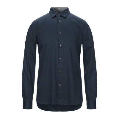 テッドベーカー TED BAKER シャツ ダークブルー 3 コットン 98% / ポリウレタン 2% シャツ