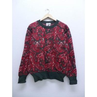 古着 レディース セーター 90年代 ウール 赤