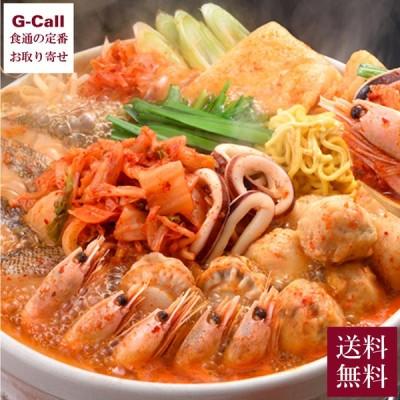 北海道ぎょれん 海鮮チゲ鍋 送料無料 韓国 キムチ 魚介 ラーメン 帆立