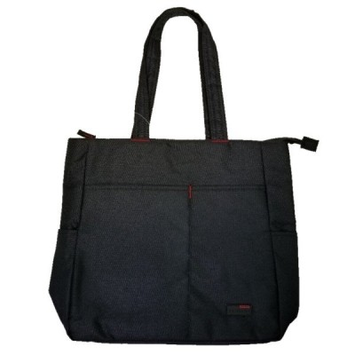 トートバッグ 無地 ポケット多数 中敷きあり チャック ビジネスバッグ