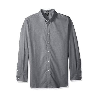 Volcom Men's Oxford Stretch Long Sleeve Button Up Shirt, BLACK, SMALL