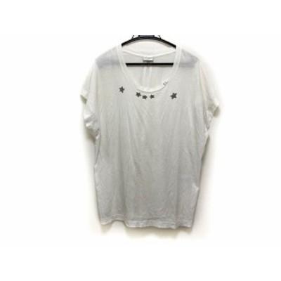 サンローランパリ SAINT LAURENT PARIS 半袖Tシャツ サイズL レディース アイボリー【中古】20201007