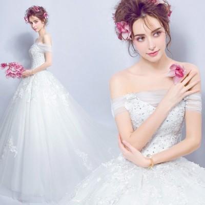 ウエディングドレス 安い 二次会 ウェディングドレス 結婚式 プリンセスライン エンパイア 花嫁 プリンセス 披露宴 ロングドレス ブライダル wedding dress