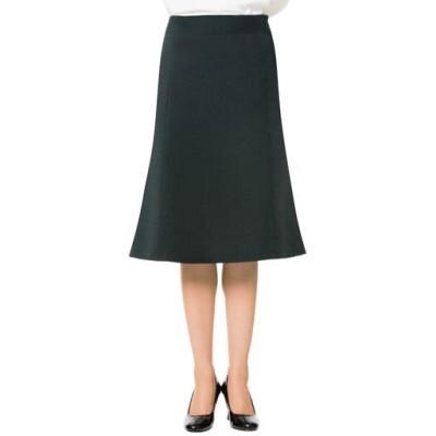 スーツ用マーメイドスカート(事務服・洗濯機OK)/ブラックB(総丈61cm)/70-95