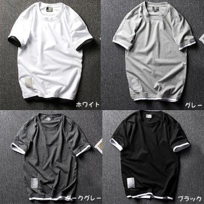 Tシャツ 半袖 メンズ 夏 スポーツ ダンスウェア クルーネック トップス カットソー Tシャツ ストリート系のメンズ おしゃれ