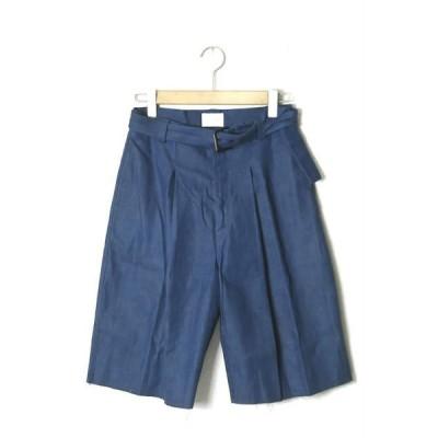 TONSURE トンシュアー 17SS Oversize Shorts 9oz ベルテッドオーバーサイズデニムショーツ TS17S-07-26-G07 タック ワイド