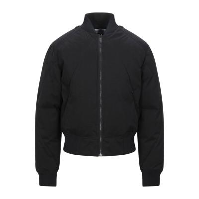 ビッケンバーグ BIKKEMBERGS ダウンジャケット ブラック 48 ポリエステル 50% / コットン 37% / ナイロン 13% / ポリ