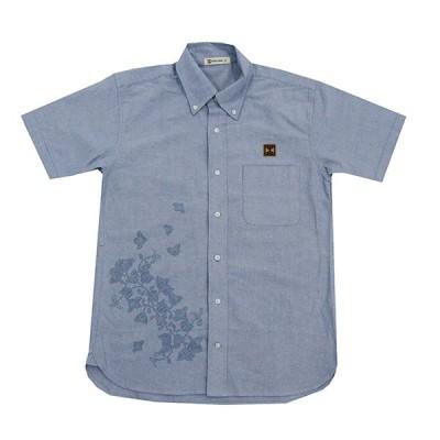 かりゆしウェア ワイシャツ 半袖 オックスフォードシャツ メンズ 単色ブーゲンビリア 沖縄お土産