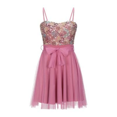 VANESSA SCOTT ミニワンピース&ドレス ブルー S ポリエステル 95% / 指定外繊維(その他伸縮性繊維) 5% ミニワンピース&ドレス