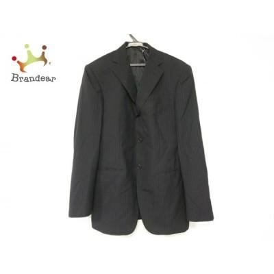 タケオキクチ TAKEOKIKUCHI ジャケット サイズ3 L メンズ 訳あり 黒×ダークグレー ストライプ   スペシャル特価 20210415