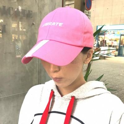 CAP メンズ レディース 帽子 VIBRATE バイブレイト VISOR WEBBING LOGO CAP