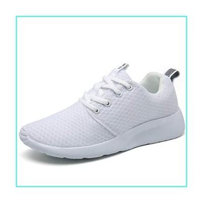 【新品】Mishansha Men's Women's Athletic Mesh Walking Running Sports Tennis Shoes Lightweight Fashion Sneakers White 8 Women/6.5 Men(並行輸