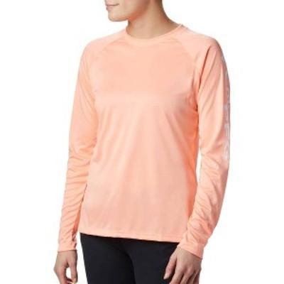 コロンビア レディース シャツ トップス Columbia Women's Tidal Tee II Long Sleeve Shirt Tiki Pink/White Logo
