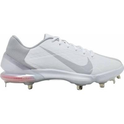 ナイキ メンズ スニーカー シューズ Nike Men's Force Zoom Trout 7 Pro Metal Baseball Cleats White/Grey