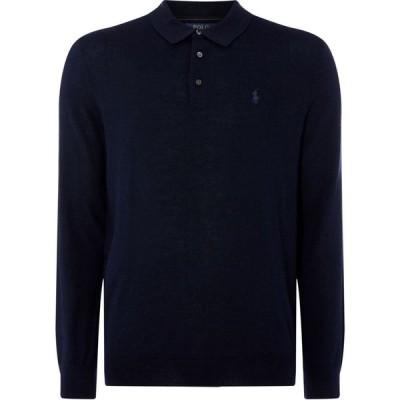 ラルフ ローレン Polo Ralph Lauren メンズ ポロシャツ トップス Merino Long Sleeve Polo Shirt Hunter Navy