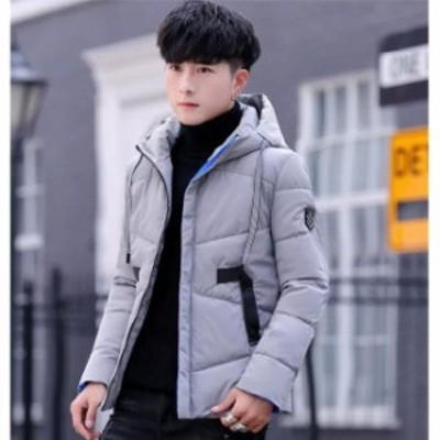 中綿ジャケット メンズ ダウンコード 冬 大きいサイズ トップス カジュアル 厚手 フード付き アウター 新作