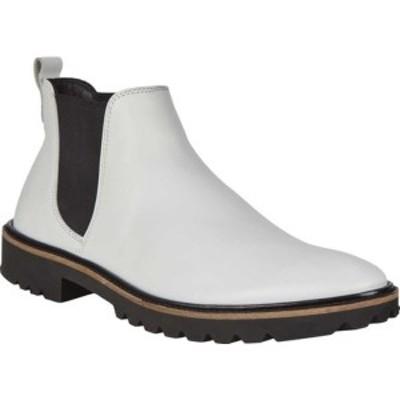 エコー レディース ブーツ&レインブーツ シューズ Incise Tailored Chelsea Boot Bright White Cow Leather