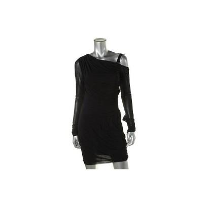 キャサリンマランドリーノ ドレス ワンピース キャットherine Malandrino 6954 レディース ブラック Tricot オープン Shoulder Party ドレス S BHFO