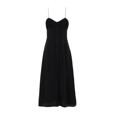 クープルズ THE KOOPLES 7分丈ワンピース・ドレス ブラック 1 シルク 100% 7分丈ワンピース・ドレス