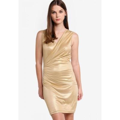 ザローラ Zalora レディース ボディコンドレス イブニングドレス ワンピース・ドレス Evening Overlap Bodycon Dress Light Gold