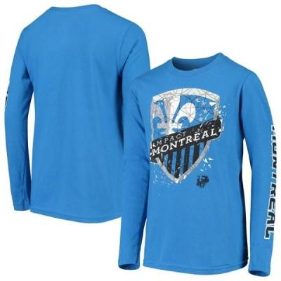 キッズ スポーツリーグ サッカー Montreal Impact Youth Deconstructed Long Sleeve T-Shirt - Blue Tシャツ