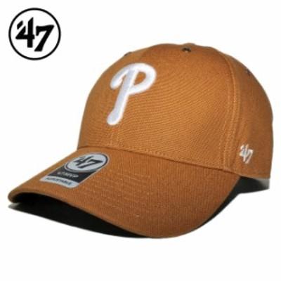 47ブランド カーハート コラボ ストラップバックキャップ 帽子 メンズ レディース 47BRAND CARHARTT MLB フィラデルフィア フィリーズ フ