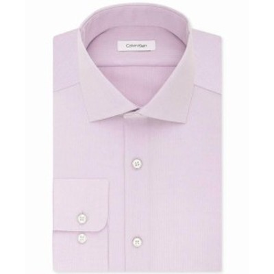 Calvin Klein カルバンクライン ファッション ドレス Calvin Klein Men Solid Pink Size 17 Regular Fit Performance Dress Shirt