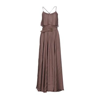 ELISABETTA FRANCHI ロングワンピース&ドレス ライトブラウン 44 100% レーヨン ロングワンピース&ドレス