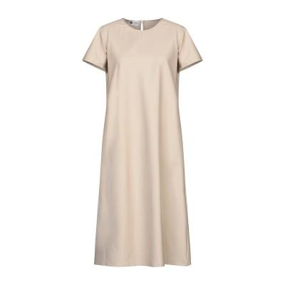 BINI Como 7分丈ワンピース・ドレス ライトブラウン 44 コットン 100% 7分丈ワンピース・ドレス